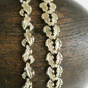 Vintage Coro 2pc Set  Warm Tone Leaf Necklace + B